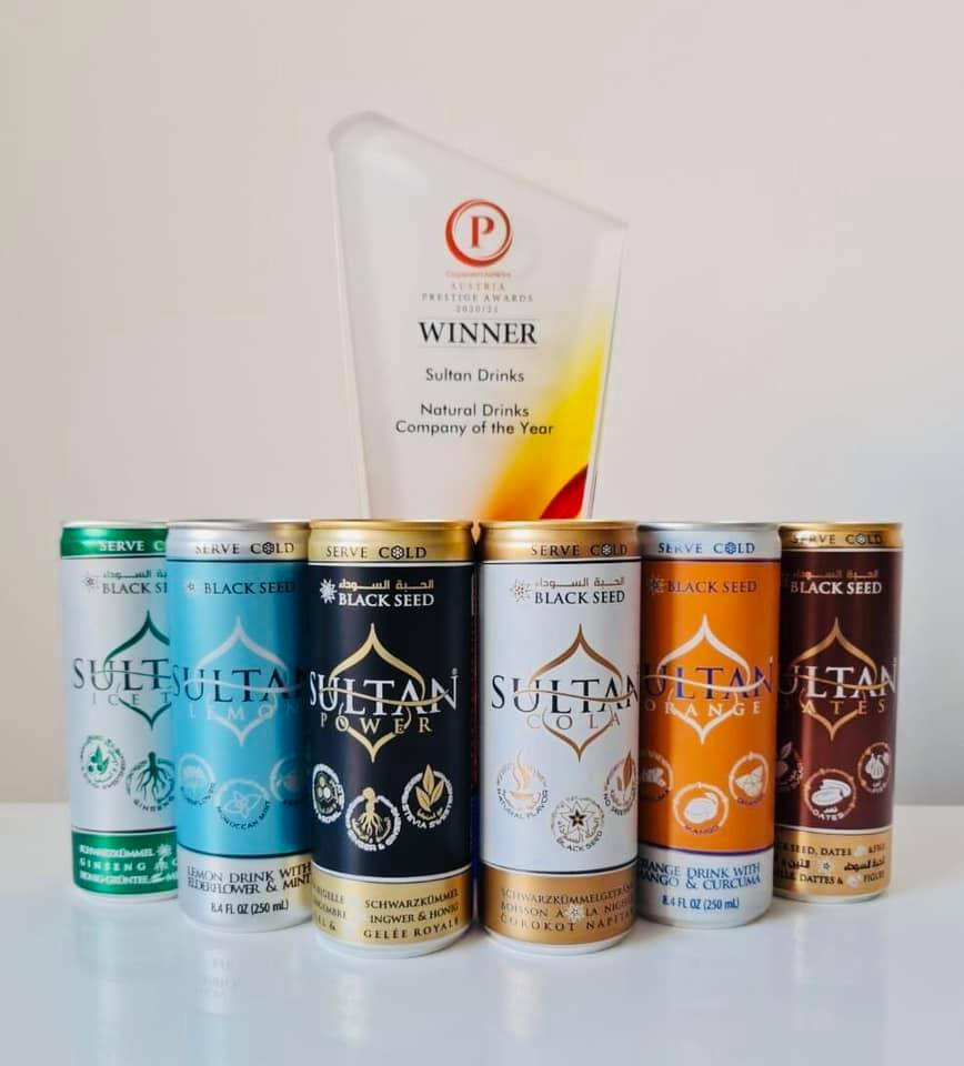 Sultan Drinks wins the Prestige Award in UK